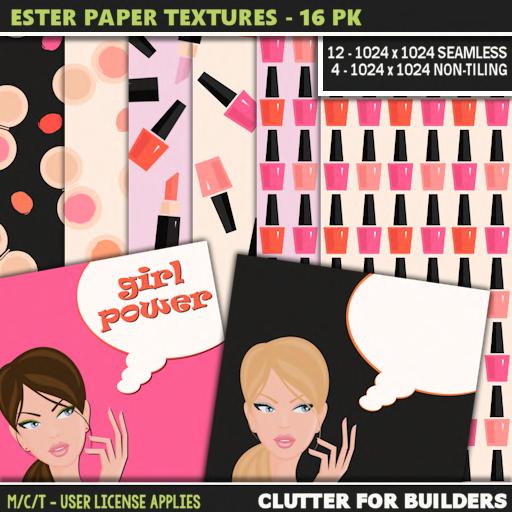 Clutter - Ester Paper Textures - 16PK - ad