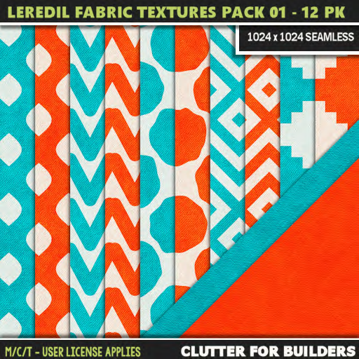 Clutter - Leredil Fabric Textures Pack 01 - 12PK - ad