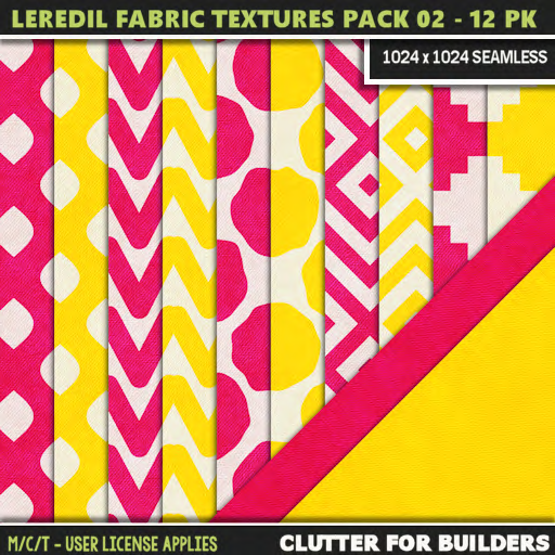 Clutter - Leredil Fabric Textures Pack 02 - 12PK - ad