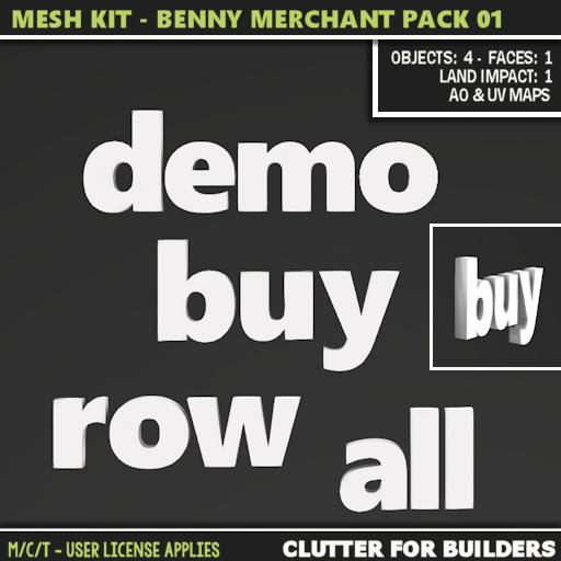 Clutter - Mesh Kit - Benny Merchant Pack 01 - ad