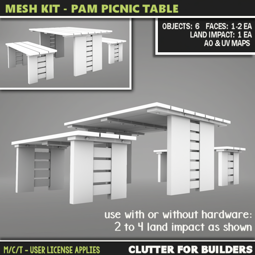 Clutter - Mesh Kit - Pam Picnic Table - ad