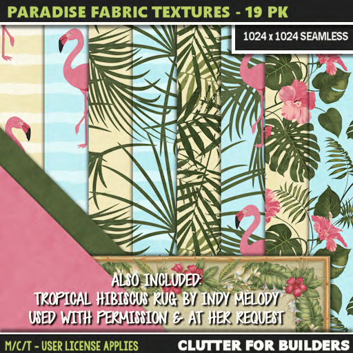 Clutter - Paradise Fabric Textures Pack 01 - 19PK - ad