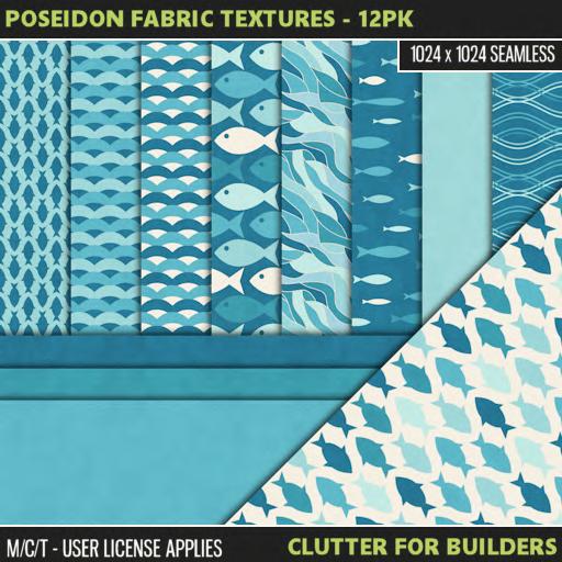 Clutter - Poseidon Fabric Textures - 12PK - ad