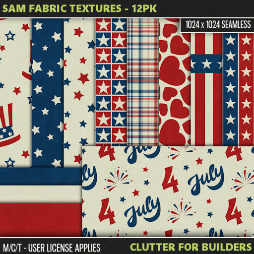 Clutter - Sam Fabric Textures - 12PK - ad