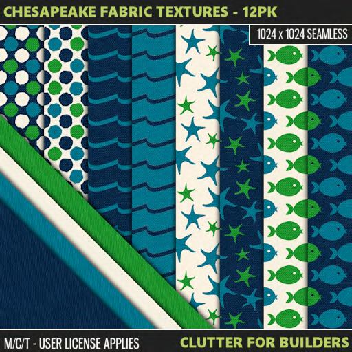 Clutter - Chesapeake Fabric Textures - 12PK - ad