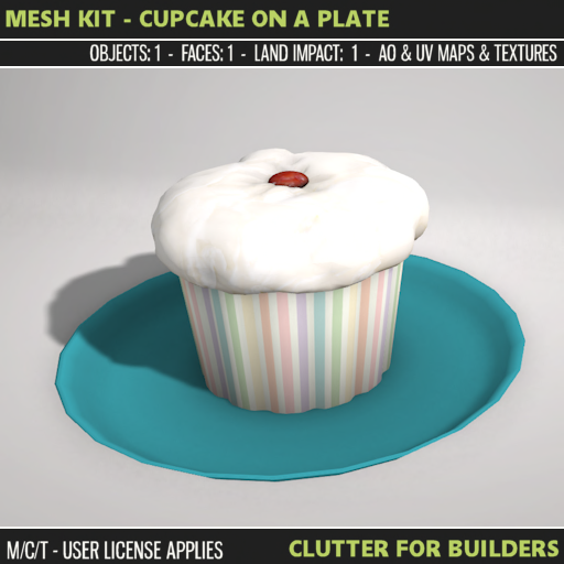 Clutter - Mesh Kit - Cupcake on a Plate - ad