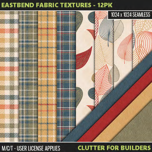 Clutter - Eastbend Fabric Textures - 12PK - ad
