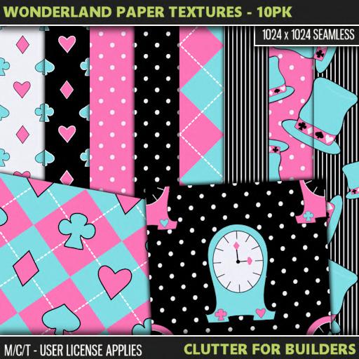 Clutter - Wonderland Paper Textures - 10PK - ad