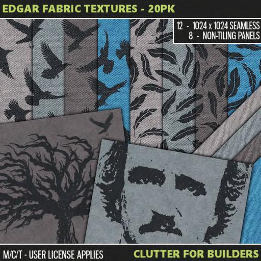 Clutter - Edgar Fabric Textures - 20PK - ad