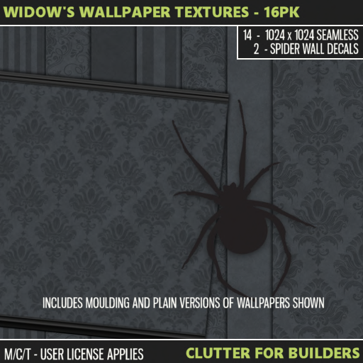Clutter - Widow's Wallpaper Textures - 16PK - ad