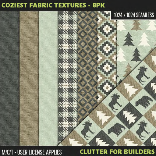 Clutter - Coziest Fabric Textures - 8PK - ad
