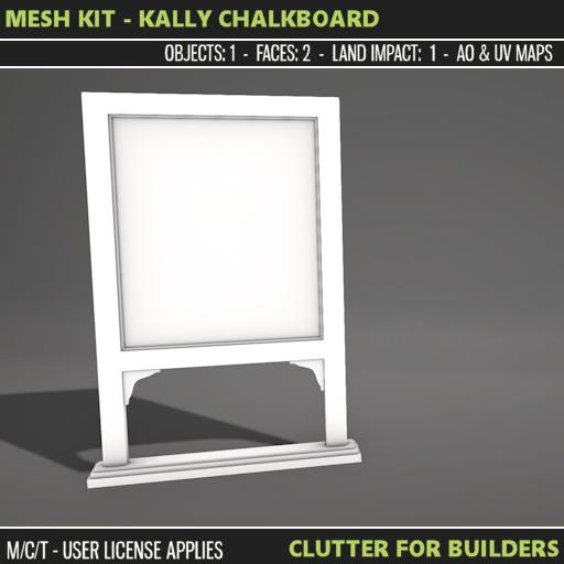 Clutter - Mesh Kit - Kally Chalkboard - ad
