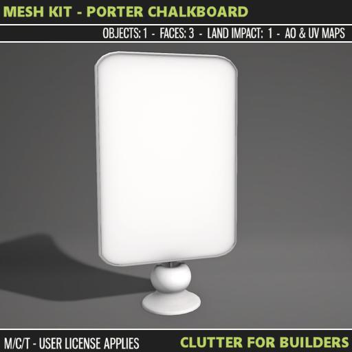 Clutter - Mesh Kit - Porter Chalkboard - ad