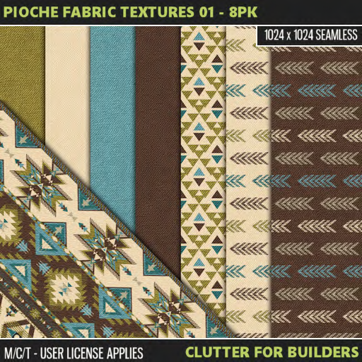Clutter - Pioche Fabric Textures 01 - 8PK - ad