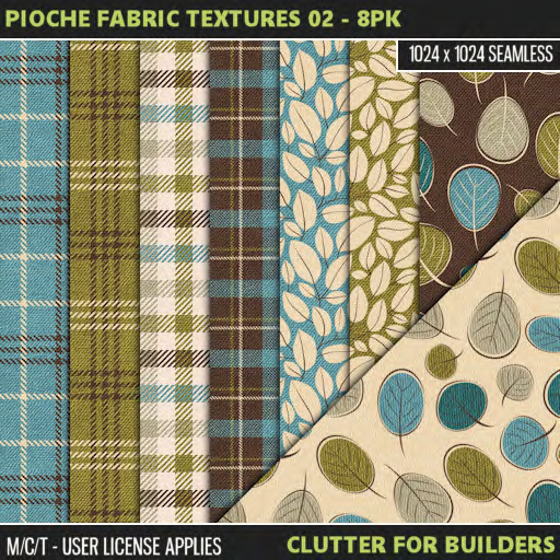 Clutter - Pioche Fabric Textures 02 - 8PK - ad